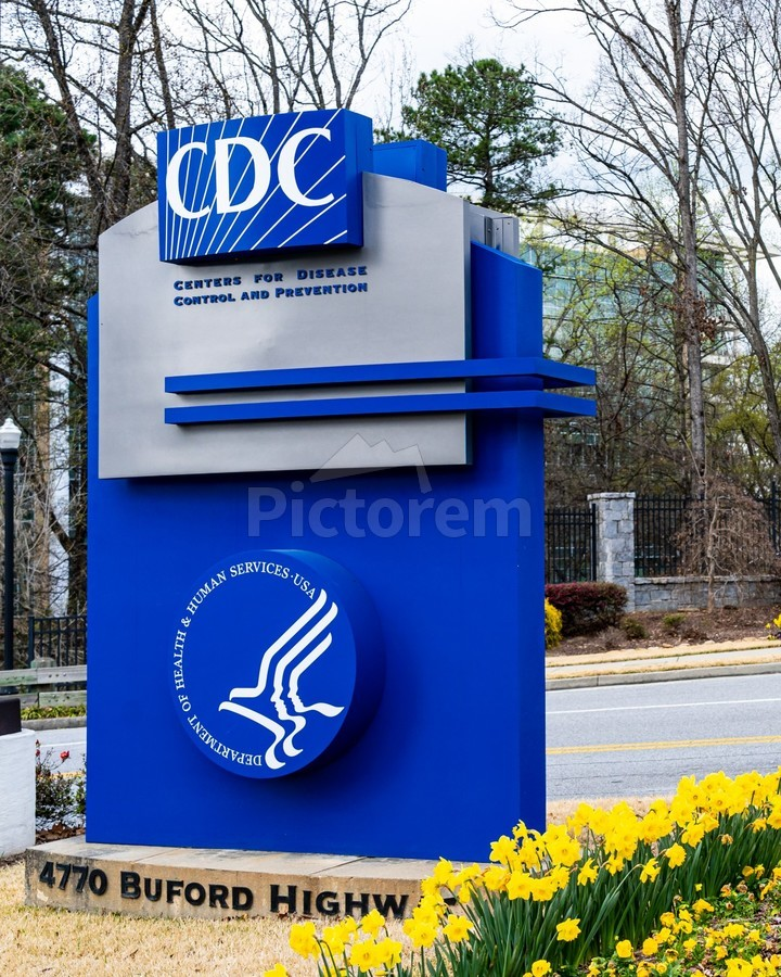 Centers for Disease Control CDC Sign   Atlanta GA 02775  Print