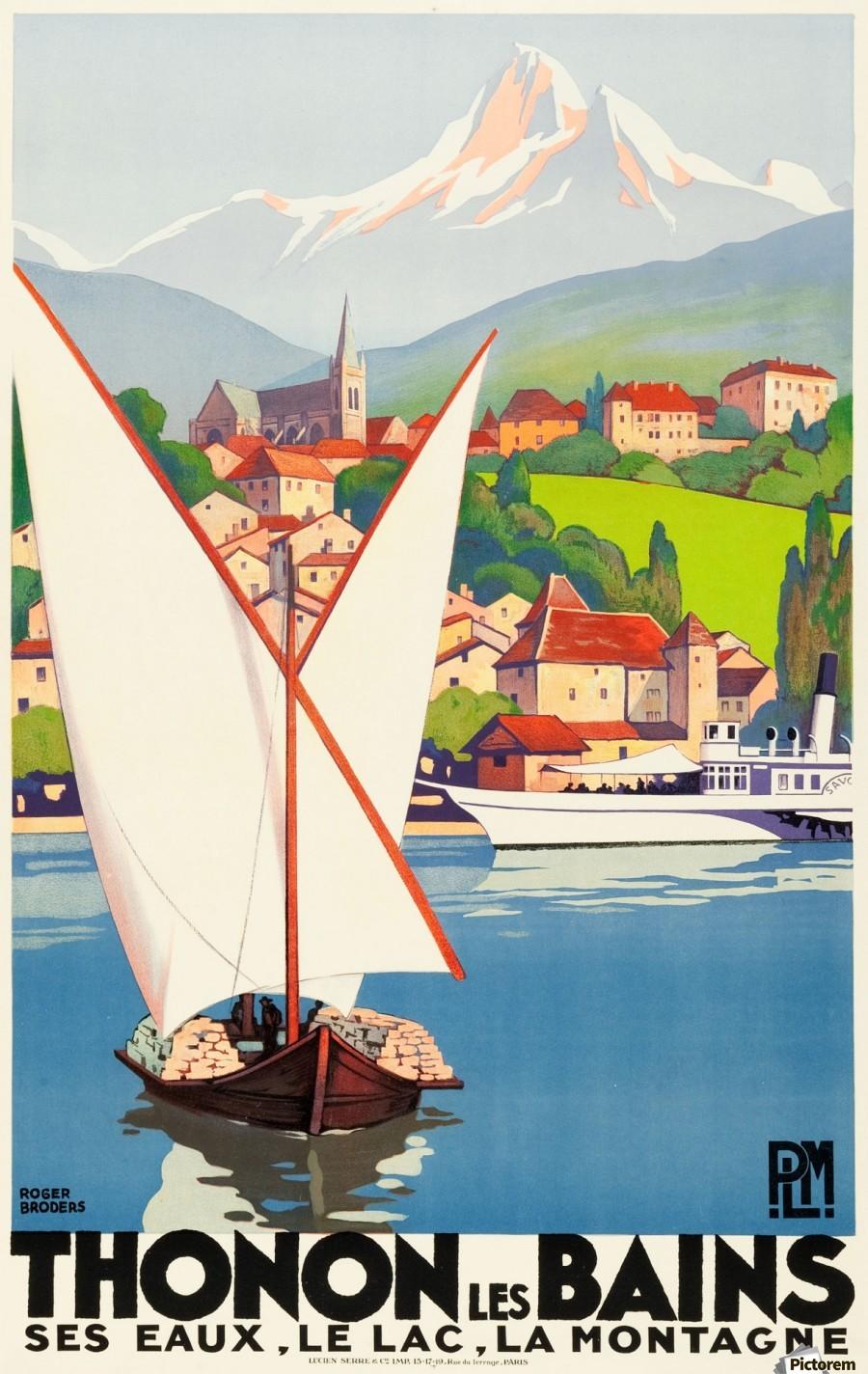 thonon les bains travel poster vintage poster canvas