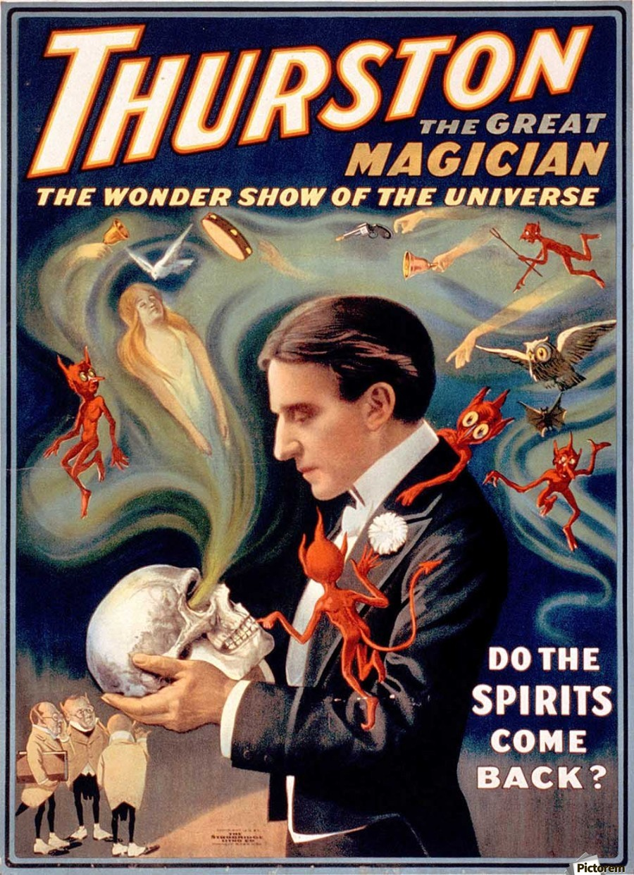 Thurston the Great Magician Vintage Poster  Print