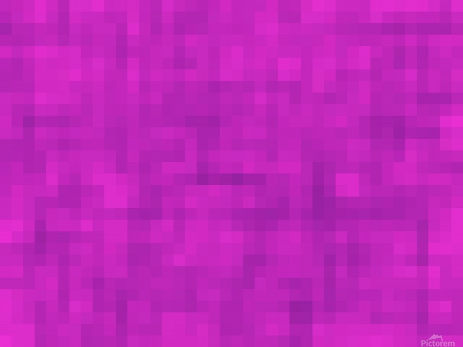 geometric square pixel pattern abstract in pink and purple  Print