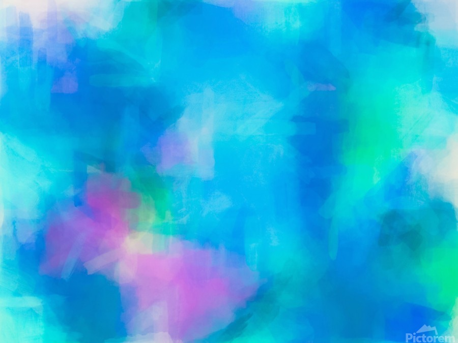 splash painting texture abstract background in blue and pink  Print