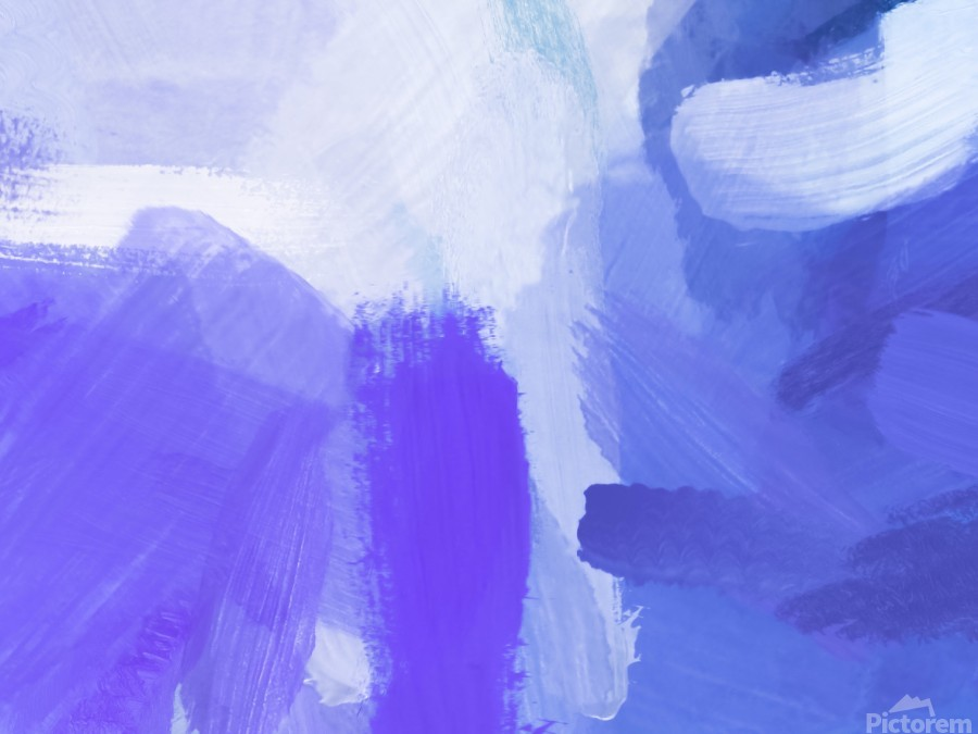 splash painting texture abstract background in blue and purple  Print