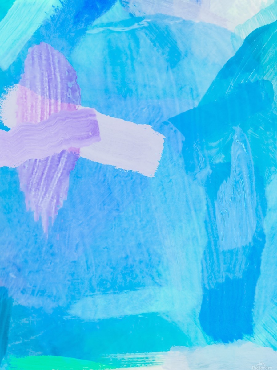 brush painting texture abstract background in blue purple  Print