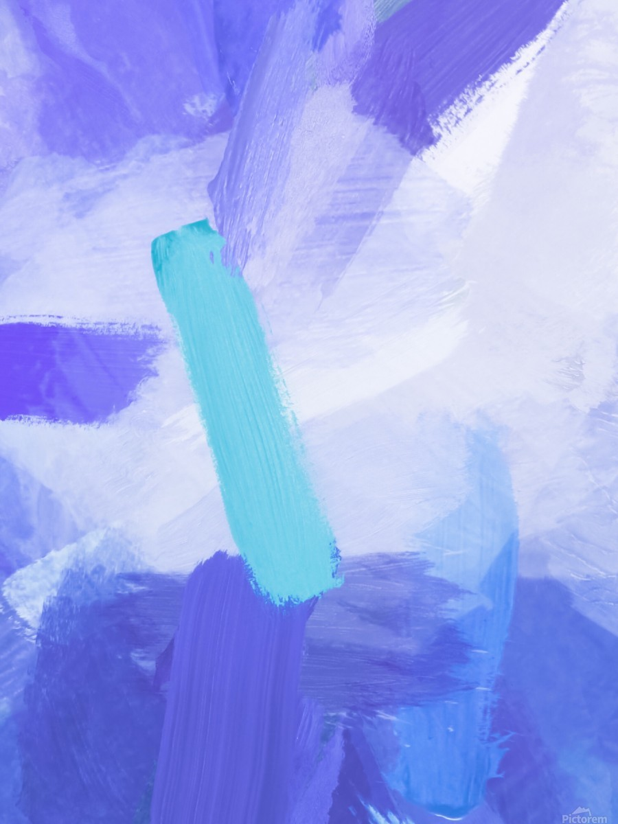 brush painting texture abstract background in blue  Print
