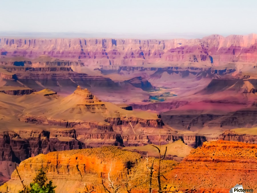 desert view at Grand Canyon national park, USA  Print