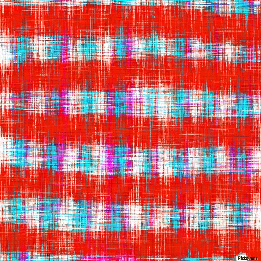 plaid pattern abstract texture in in red blue pink  Print