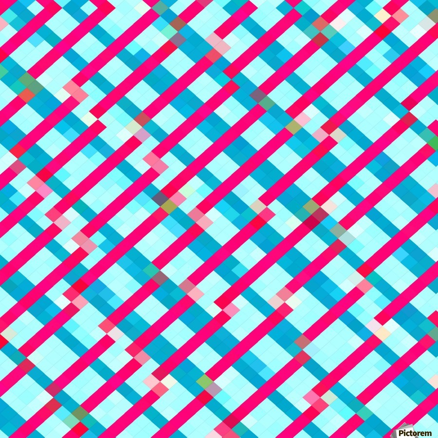 geometric pixel square pattern abstract background in blue pink ...