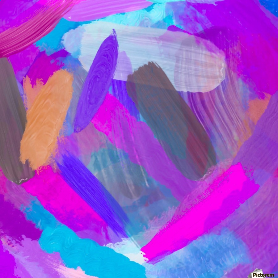 pink brown purple blue painting abstract background  Print