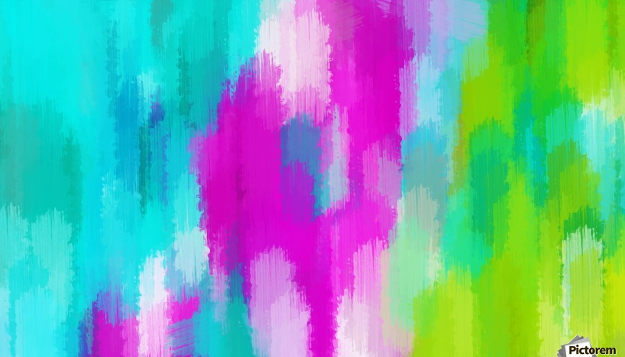 blue pink and green painting abstract background  Print