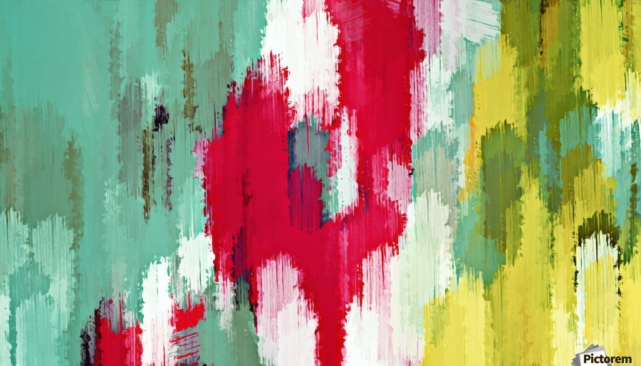 red green and yellow painting texture abstract background  Print