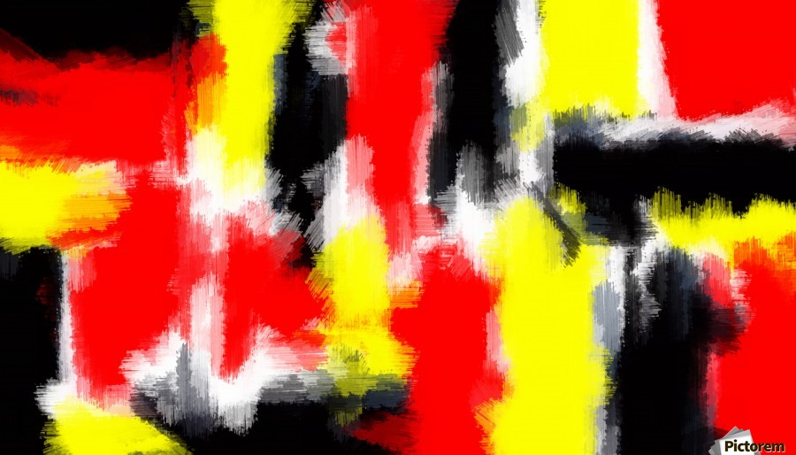 Red Yellow And Black Painting Abstract Texture With White Background Timmyla Canvas Artwork