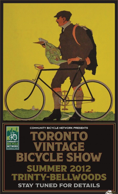 Toronto Vintage Bicycle Show - VINTAGE POSTER Canvas
