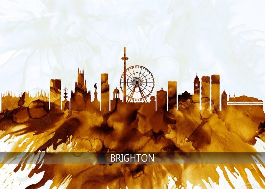 Brighton England Skyline  Print
