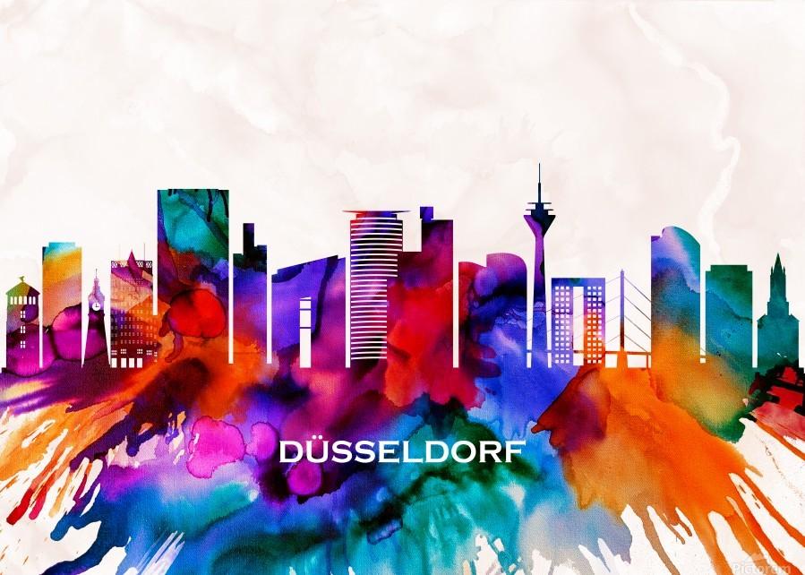 Dusseldorf Skyline  Print