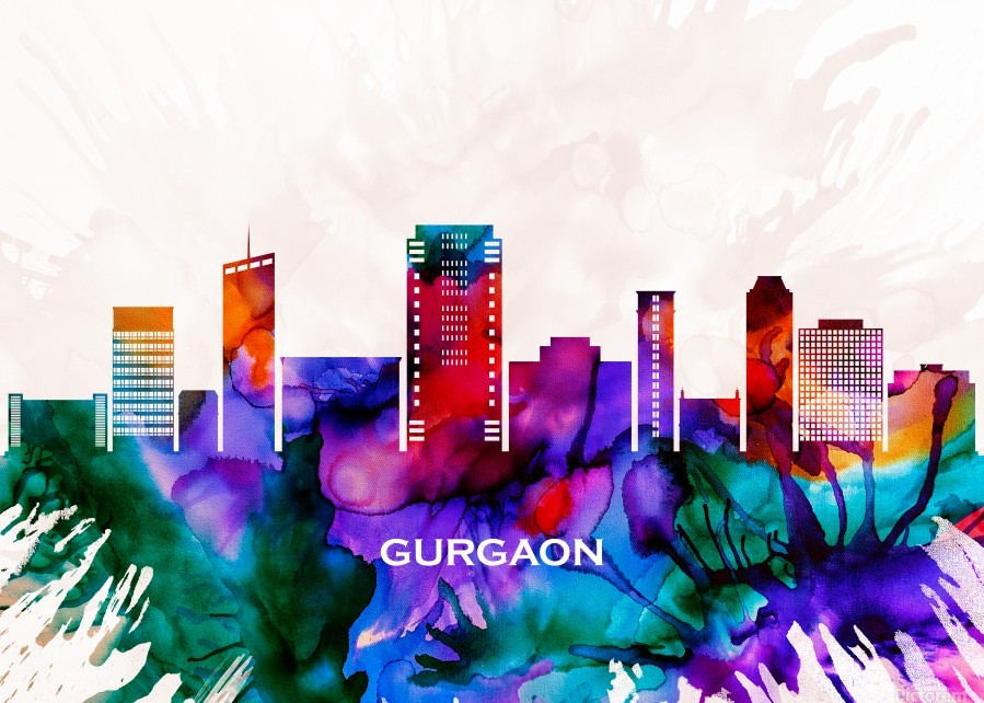 Gurgaon Skyline  Print