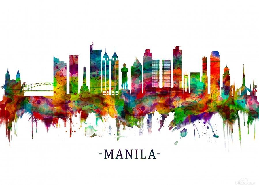 Manila Philippines Skyline  Print
