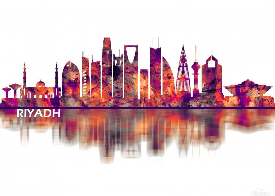 Riyadh Saudi Arabia Skyline  Print