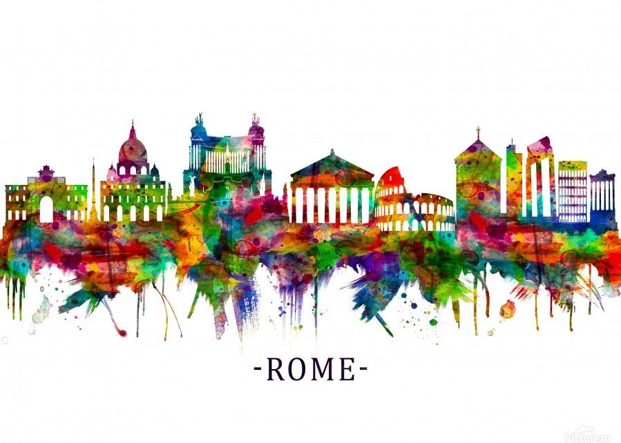 Rome Italy Skyline  Print
