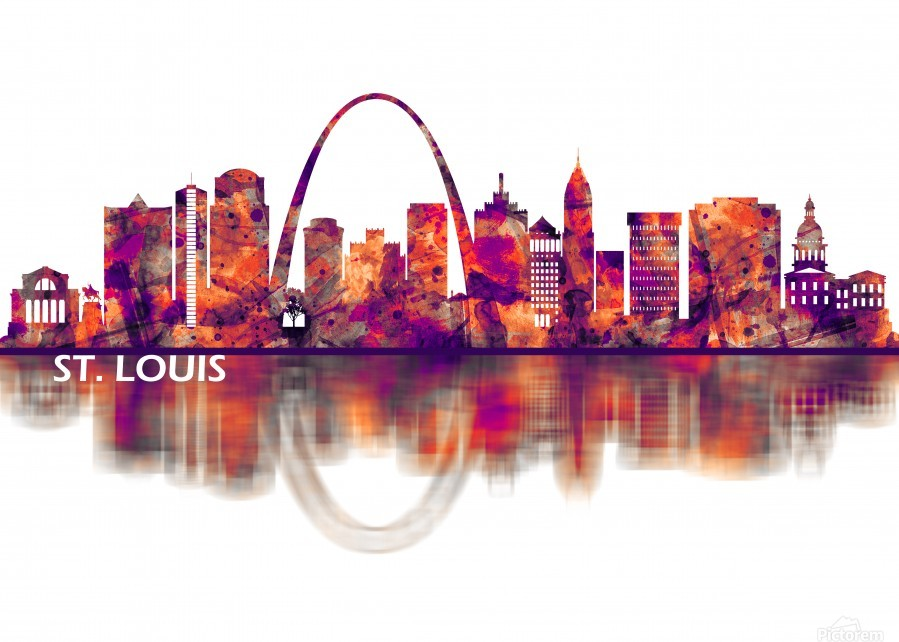 St. Louis Missouri Skyline  Print