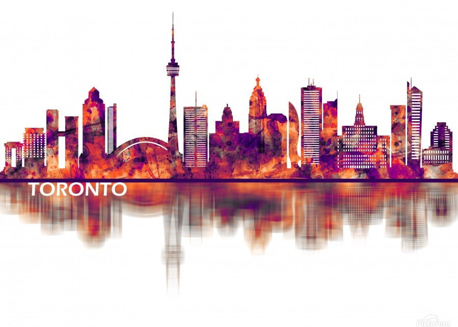 Toronto Canada Skyline  Print