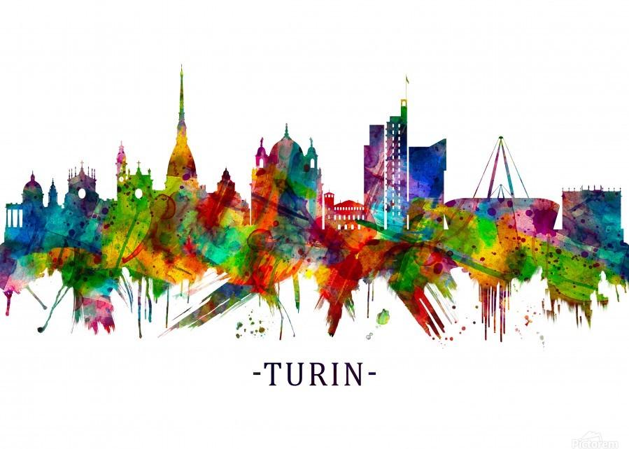 Turin Italy Skyline  Print