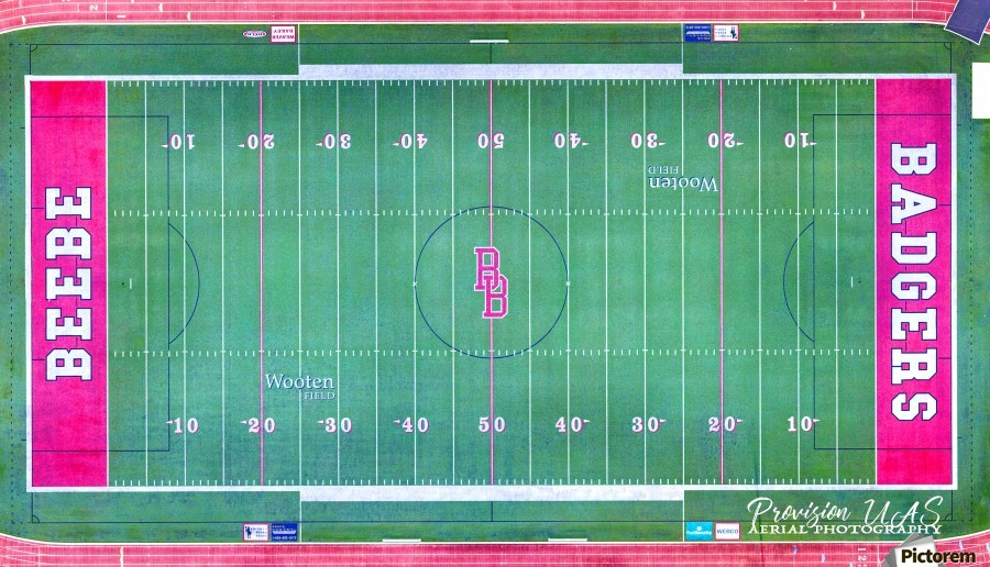 Beebe, AR | Badger Football Field  Print
