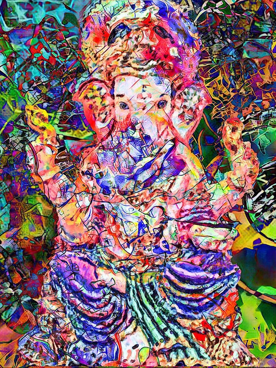 Divertido Ganesh   Print