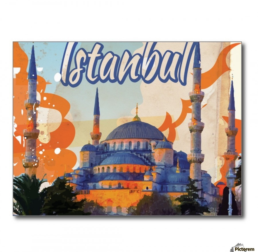 Vintage Travel Trailers: Turkey Istanbul Vintage Travel Poster