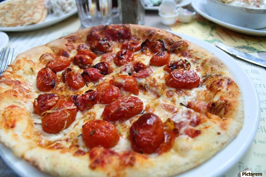 Pizza dans le Jardin de Nelson  Print