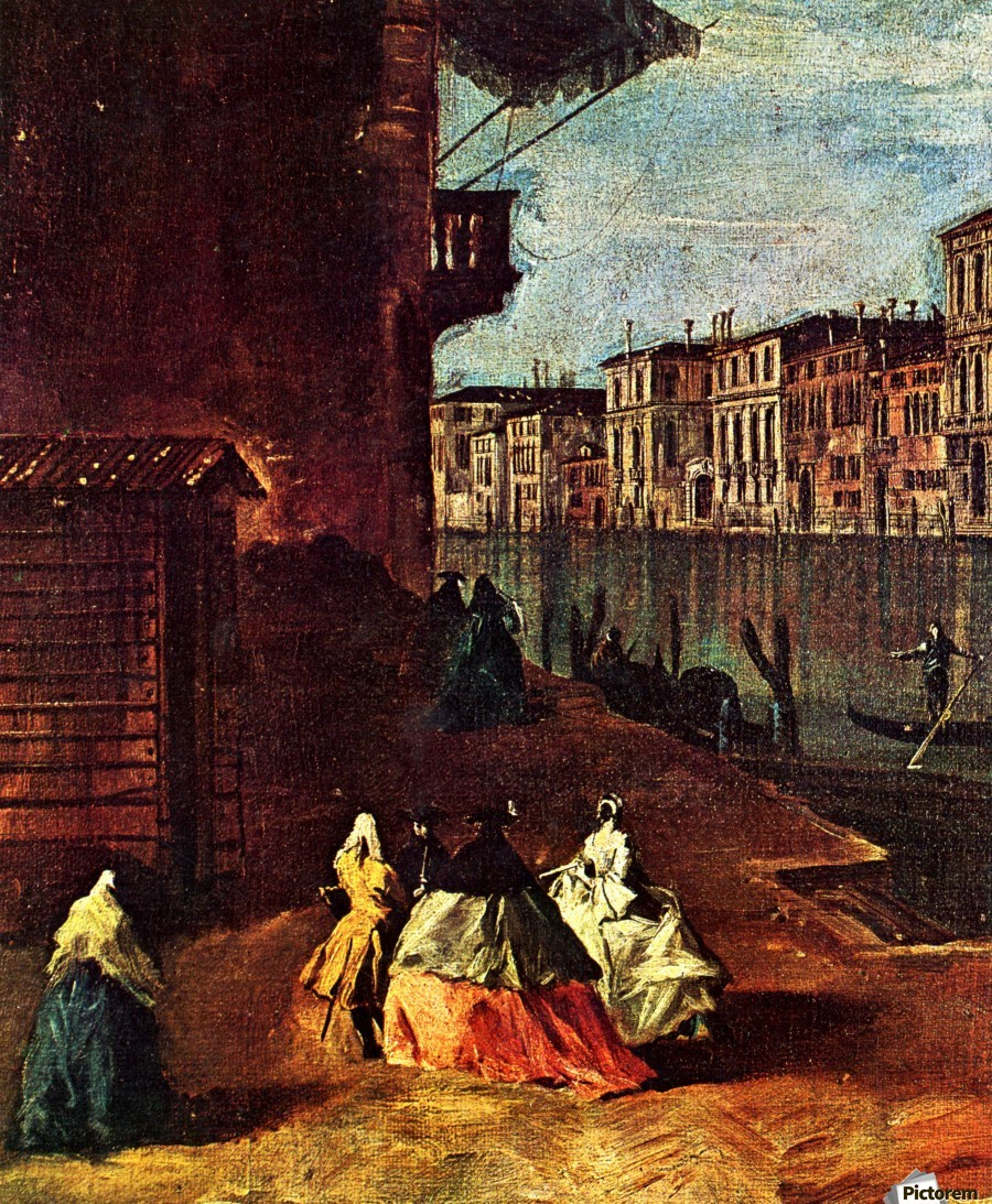 Venice, The Grand Canal with San Geremia, Palazzo Labia, and the Entrance to the Cannaregio  Print