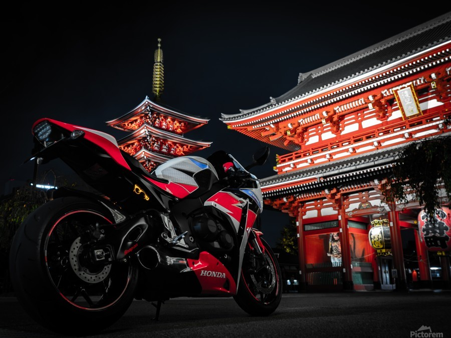 Honda At The Temple  Print