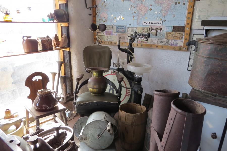 Turquoise Trail - Dentist Chair in Cerrillos  1VP  Print