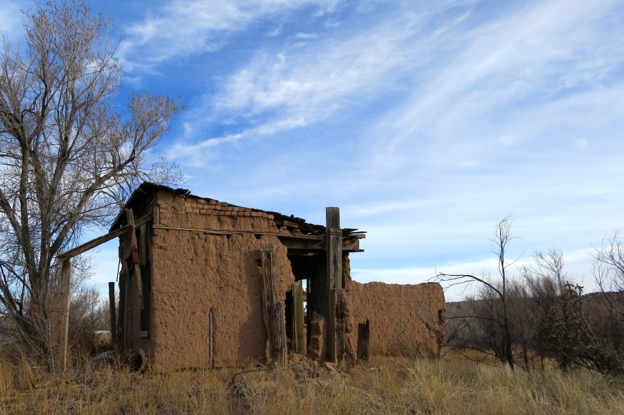 Turquoise Trail - Ruins in Golden 2VP  Print