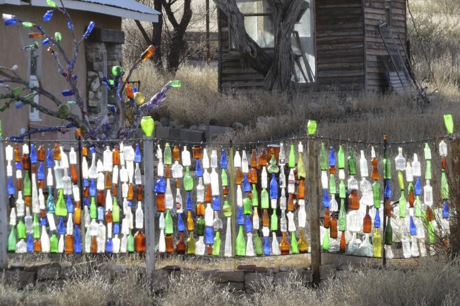 Turquoise Trail - Glass bottles in Golden 2VP  Print