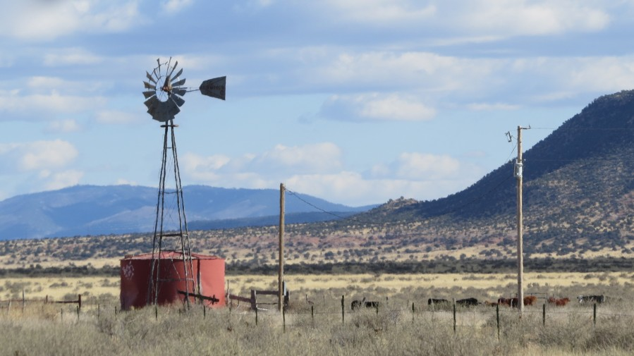 Windmill and Mountains VP1  Print