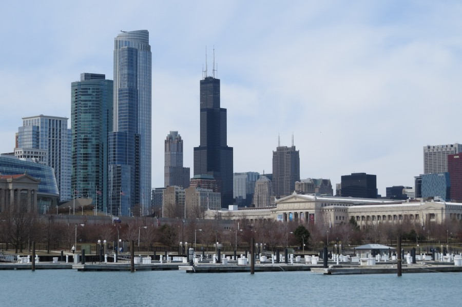 View of Chicago From Northerly Island VP2  Print