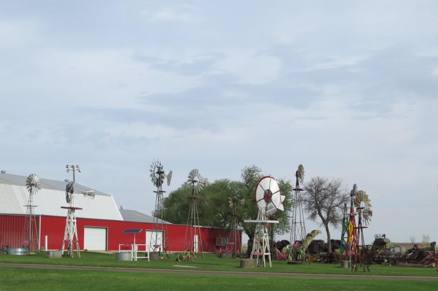 Windmills in Elk City, OK  Print