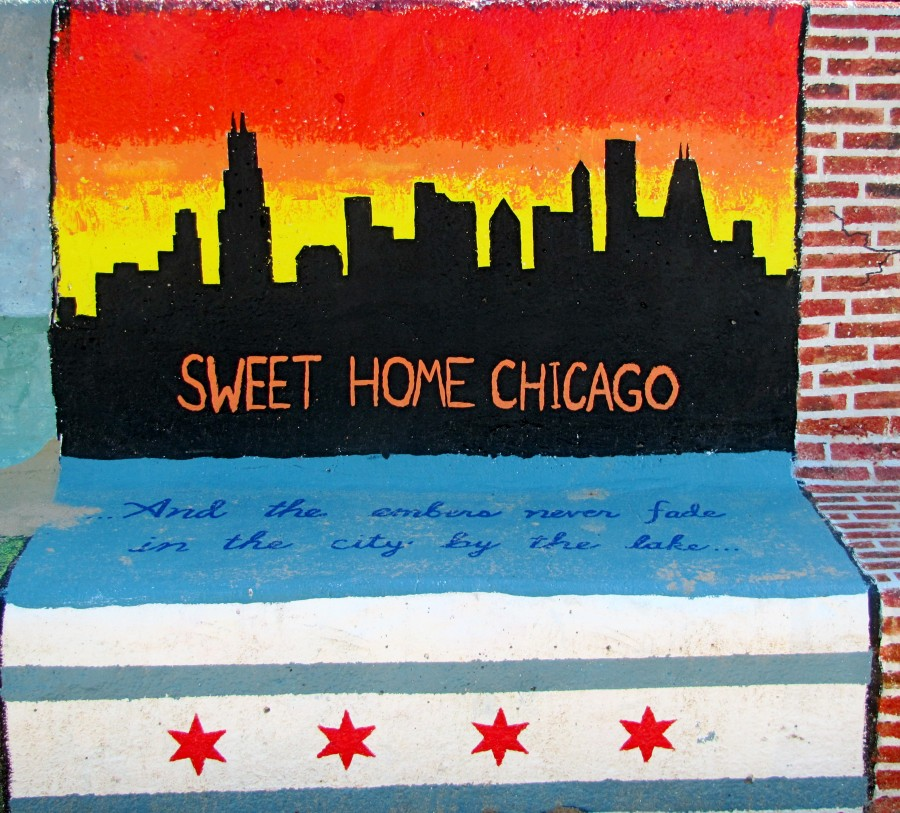 Chicago - Bench Art in Rogers Park  Print