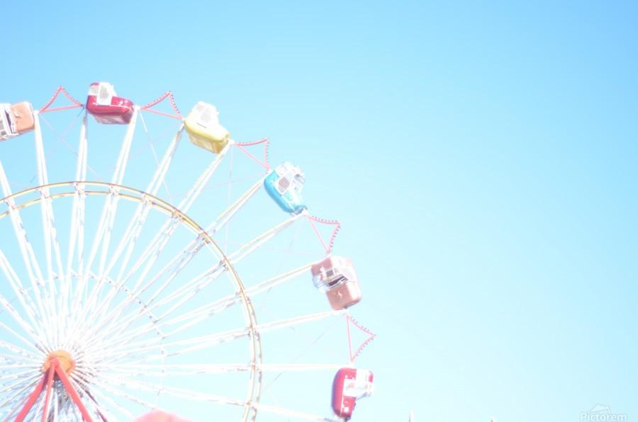 Ferris Wheel Against the Sky  Print