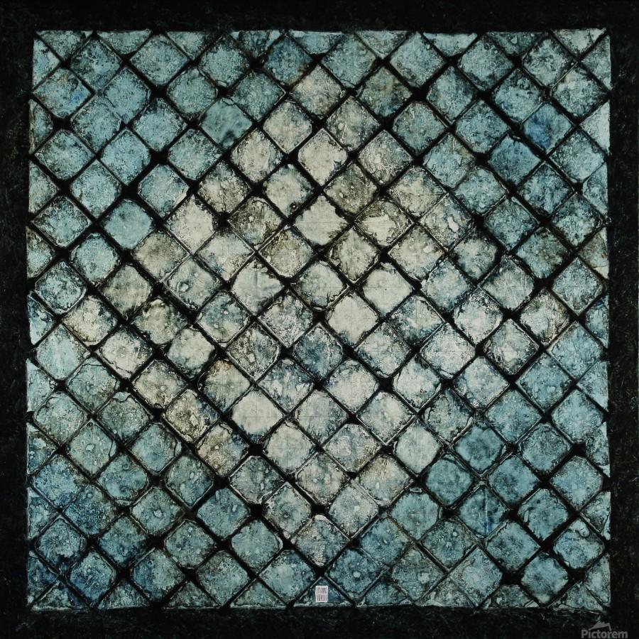 Les bleus vitraux -  Contemporary Art  Imprimer