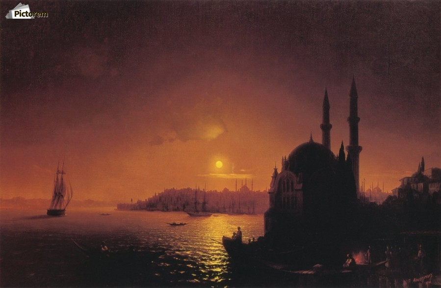 View of Constantinople by Moonlight  Print