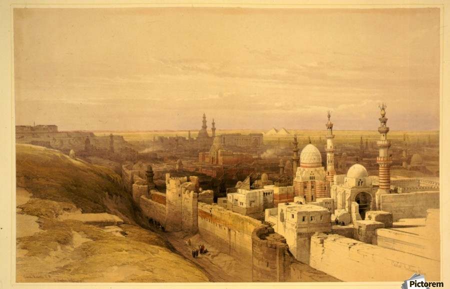View of Old Cairo  Print