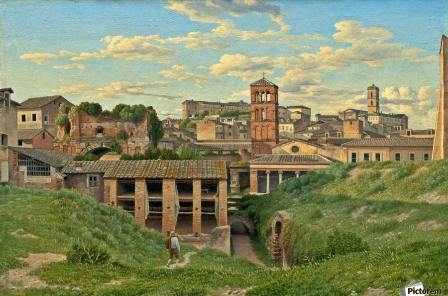 View of the Cloaca Maxima, Rome  Print
