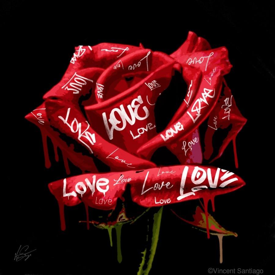 Graffiti Rose  Print