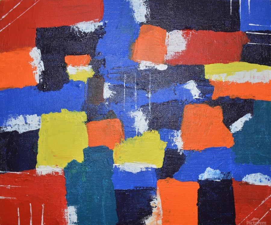 Abstract Painitng  Print