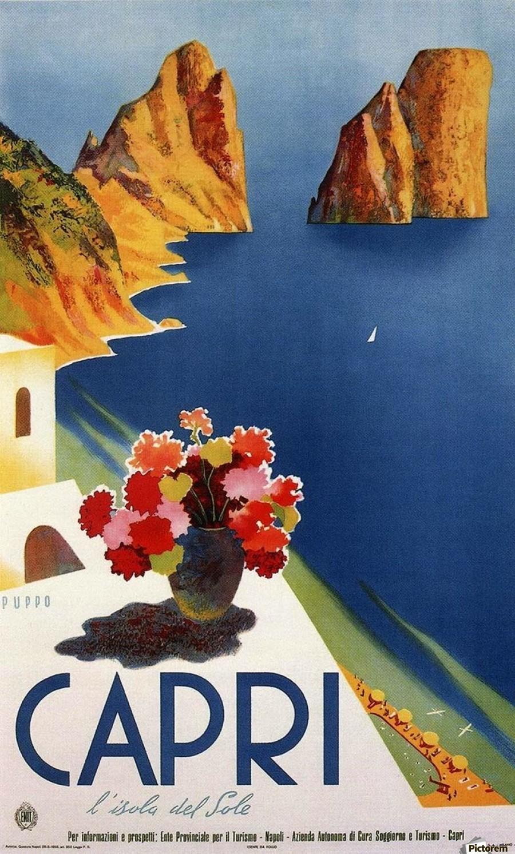 Vintage Capri - VINTAGE POSTER Canvas