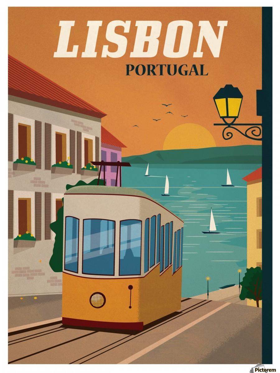 Vintage Lisbon Travel Poster