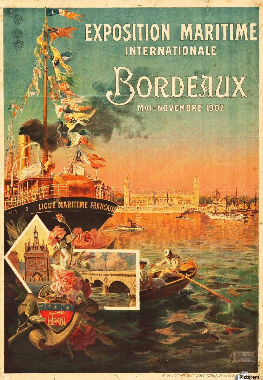 Vintage Poster For Bordeaux International Maritime