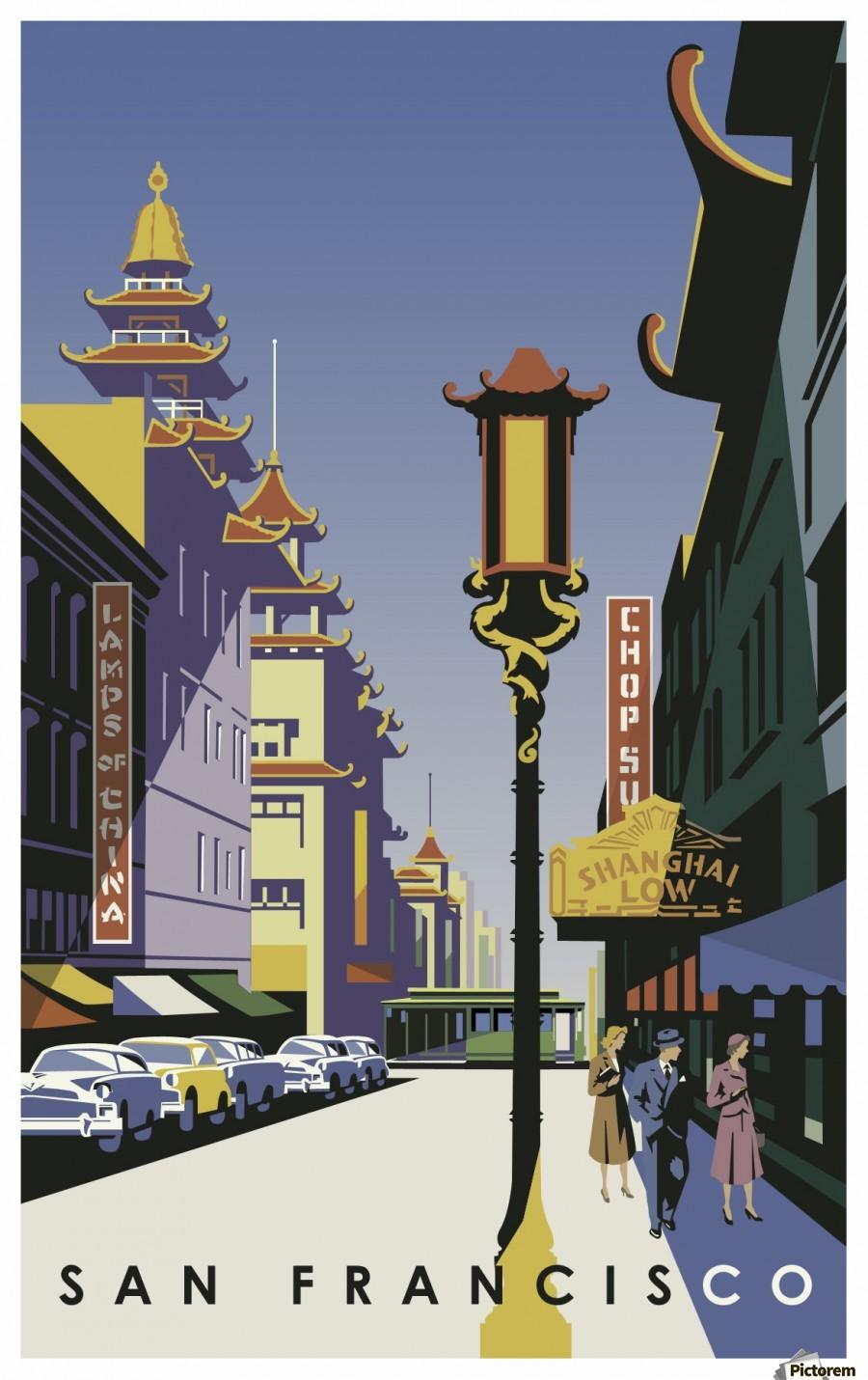 Vintage poster chinatown san francisco