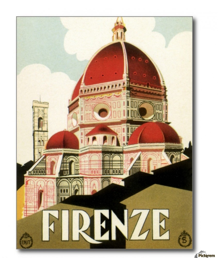 Vintage Travel Trailers: Vintage Travel Florence Italian Church Duomo Poster